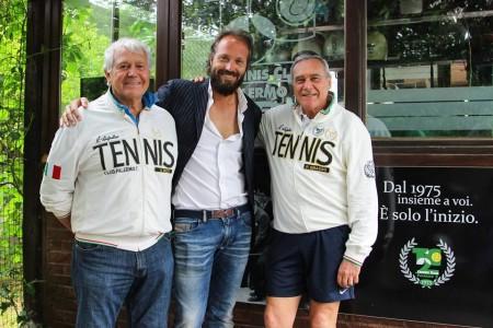 Da sinistra Augusto Rizzo, presidente del Tc2, Roberto Rizzo, dirigente del club e il presidente del Senato Pietro Grasso
