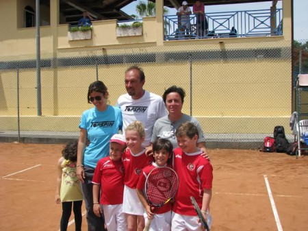 I giovanissimi tennisti dell'under 8